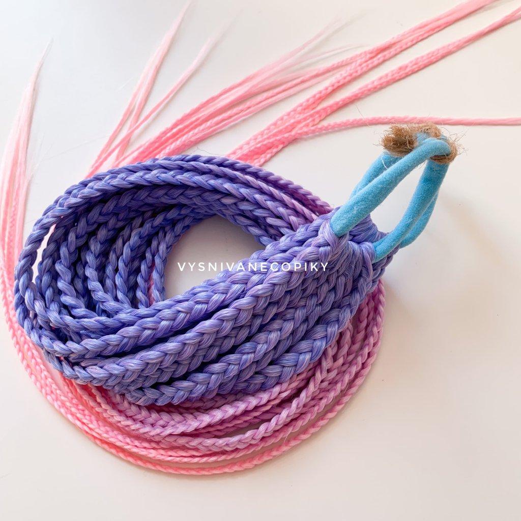 Pár copíkových gumičiek - Blue/Pink