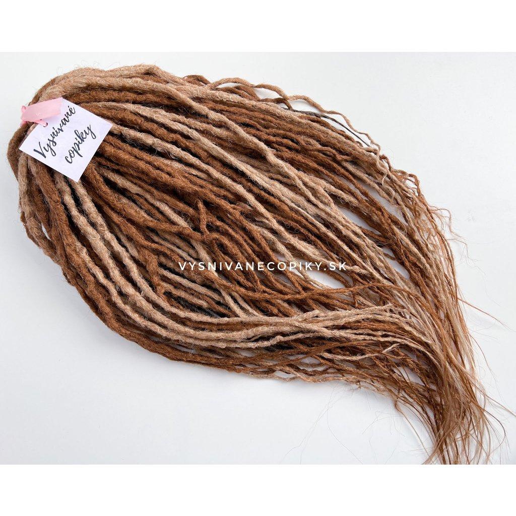 DE dredy - háčkované, rovné