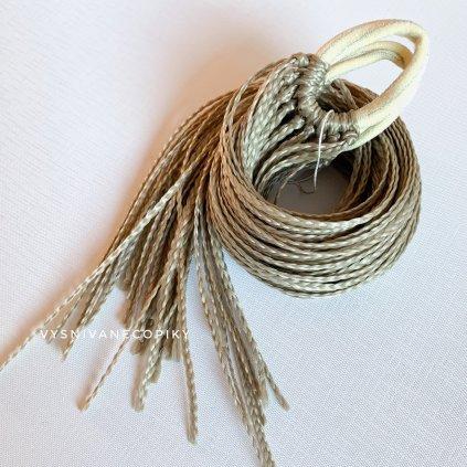 Pár zizi copíkových gumičiek - Bledohnedá/L-Brown