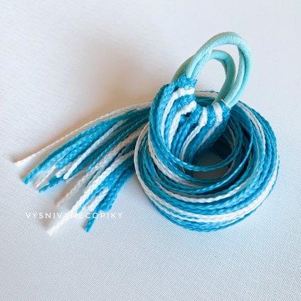 Pár zizi copíkových gumičiek - Modro-biela/Blue-White