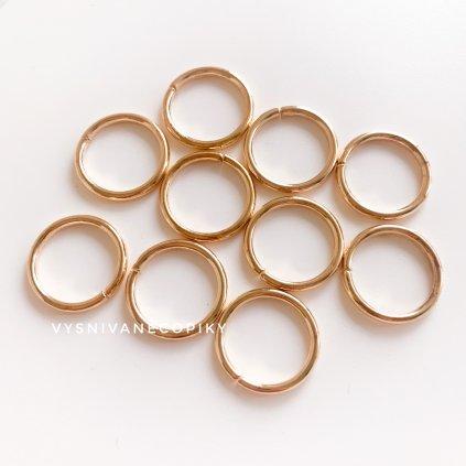 Krúžky zlaté - 20mm - 10ks