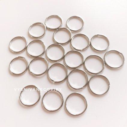 Krúžky strieborné - 10mm
