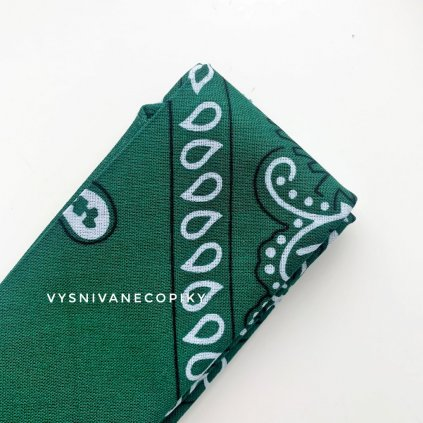 Šatka k copu - Zelená - GREEN