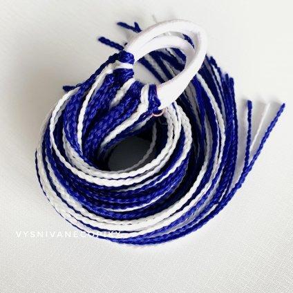 Pár zizi copíkových gumičiek - Bielo-Modrá/White-Blue