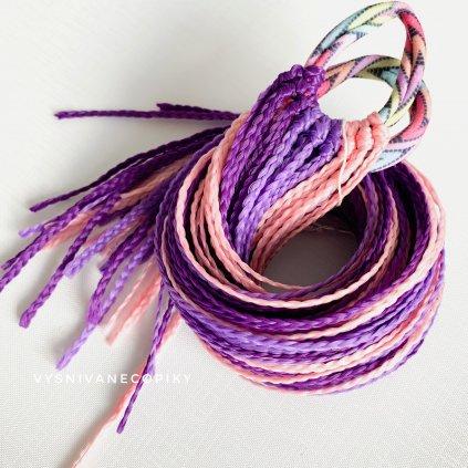 Pár zizi copíkových gumičiek - fialovo-ružová/Purple-Pink
