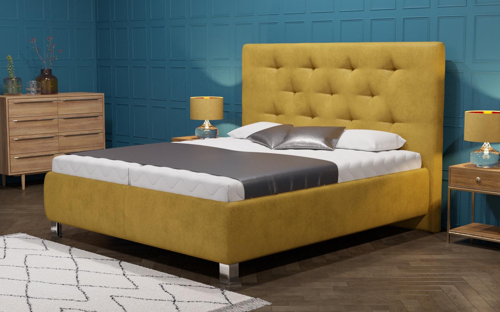 Rozjasněte si ložnici žlutou barvou
