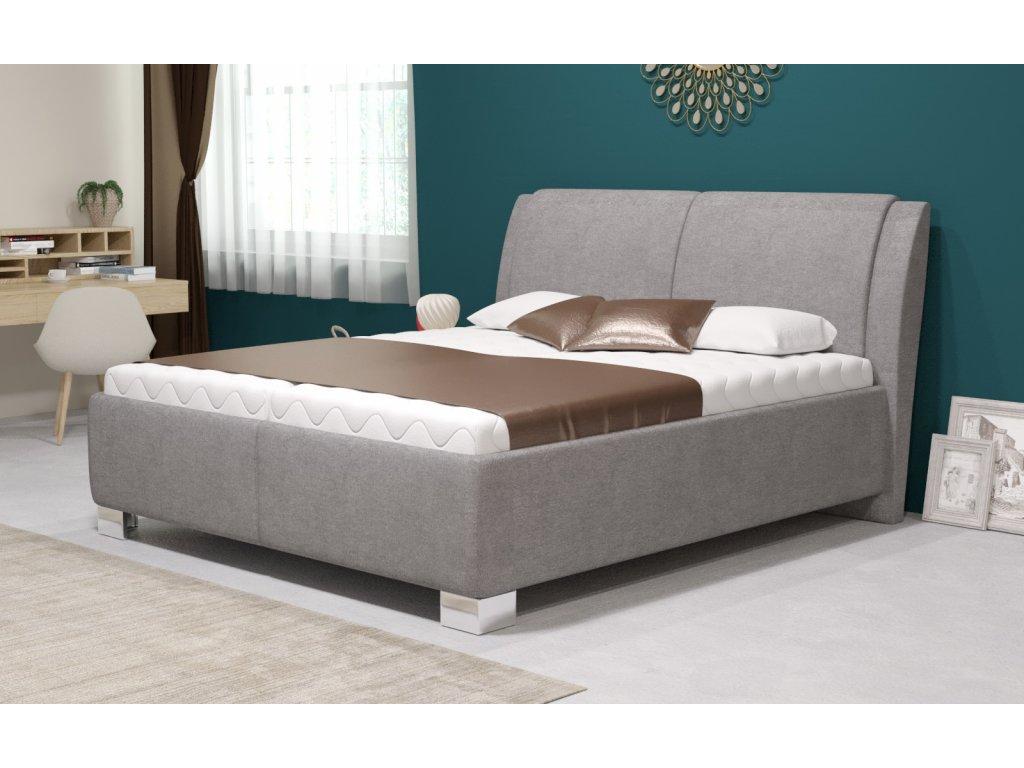 Manželská postel Chantal s úložným prostorem, matrace Standard