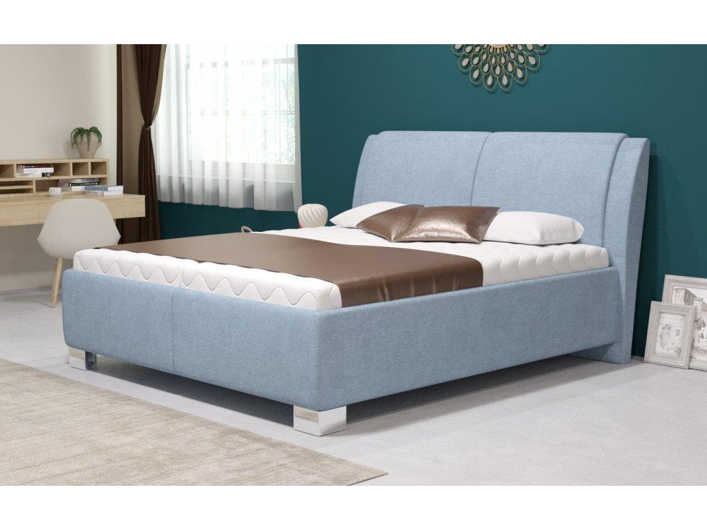 Manželská postel Chantal s úložným prostorem, matrace Premium