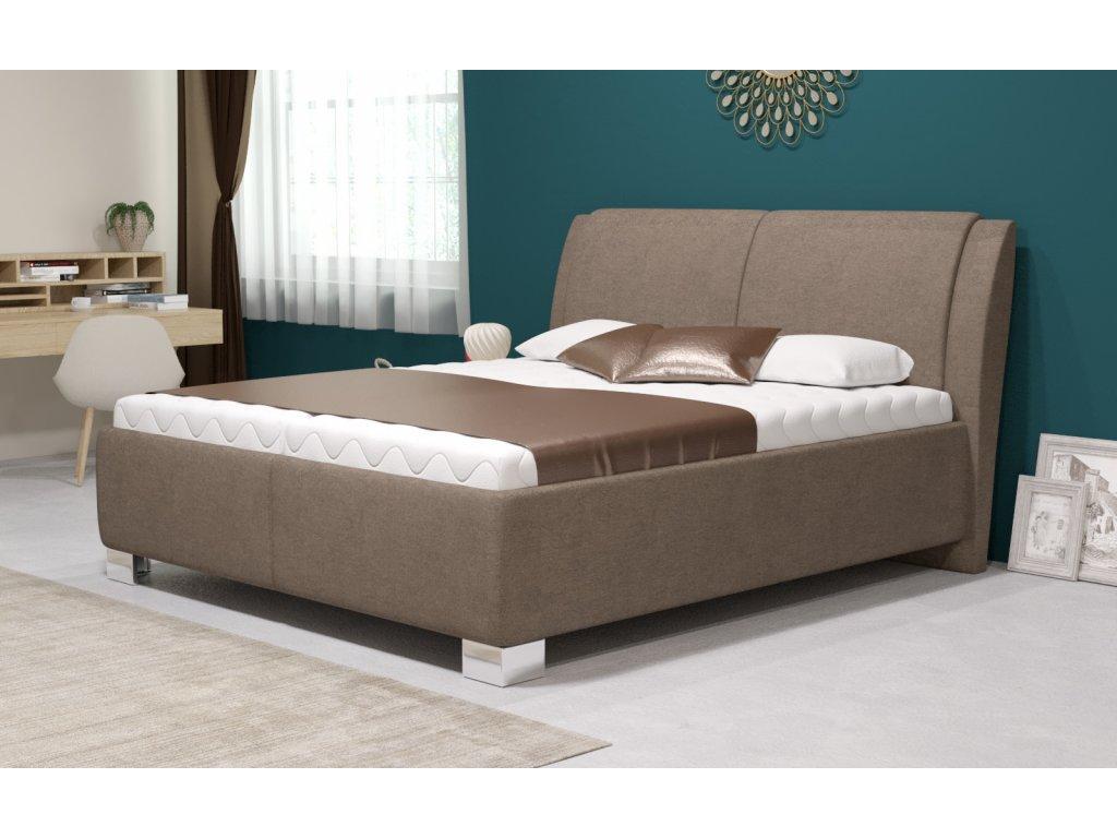 Manželská postel Chantal s úložným prostorem, matrace Hard, 180x200 cm