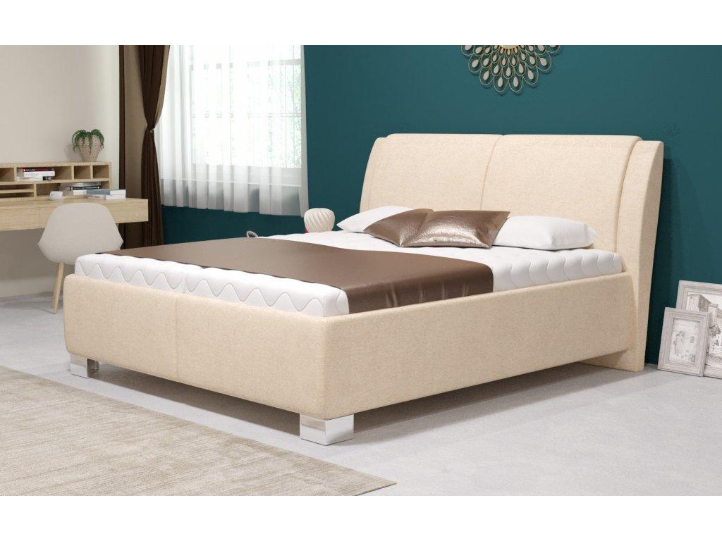 Manželská postel Chantal s úložným prostorem, matrace Premium, 180x200 cm
