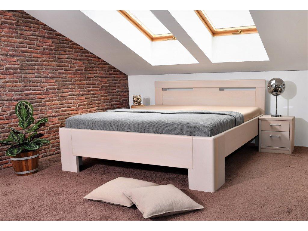 Manželská postel Hollywood 3, Masiv, Buk, 180x200 cm