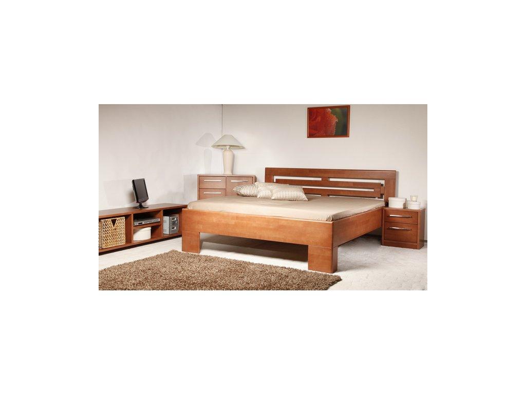 Manželská postel Varezza 2, Masiv, Buk, 160x200 cm
