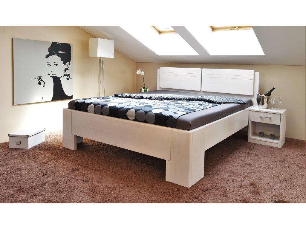 Manželská postel Manhattan 2, Masiv, Buk, 160x200 cm