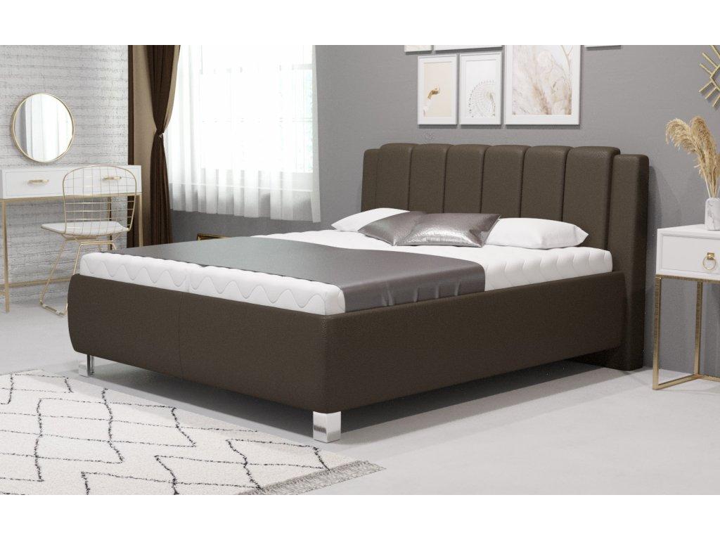 Manželská postel Venetto - čalouněná postel