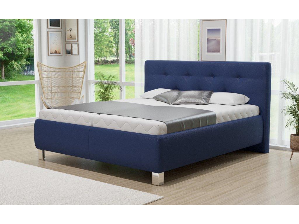 Manželská postel Ellen s úložným prostorem