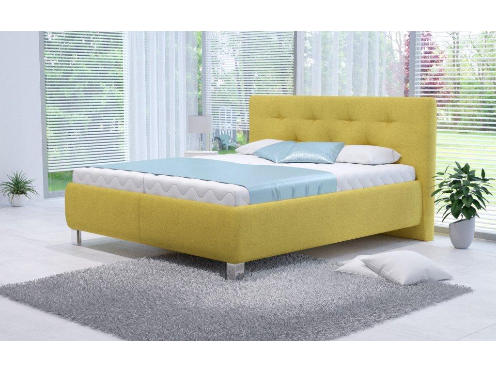 Manželská postel V. ELLEN 160x200 vč. matrace PREMIUM s úložným prostorem