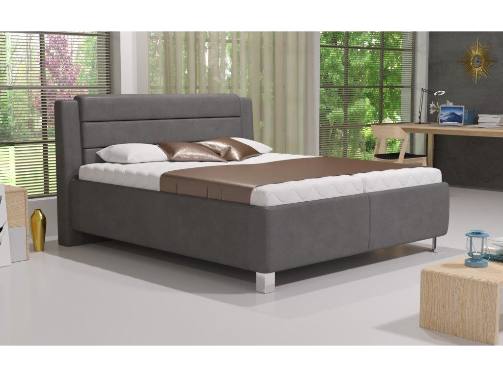 Manželská postel TENESSEE 180x200 vč. matrace HARD s úložným prostorem - Boxspring