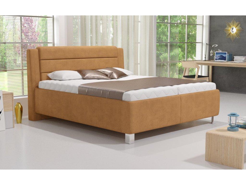 Manželská postel Tenessee s matrací