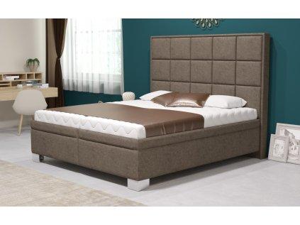 Manželská postel V. KARA 160x200 vč. matrace HARD s úložným prostorem
