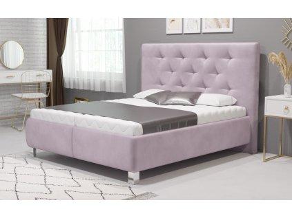 Manželská postel V. MIA 160x200 vč. matrace HARD s úložným prostorem
