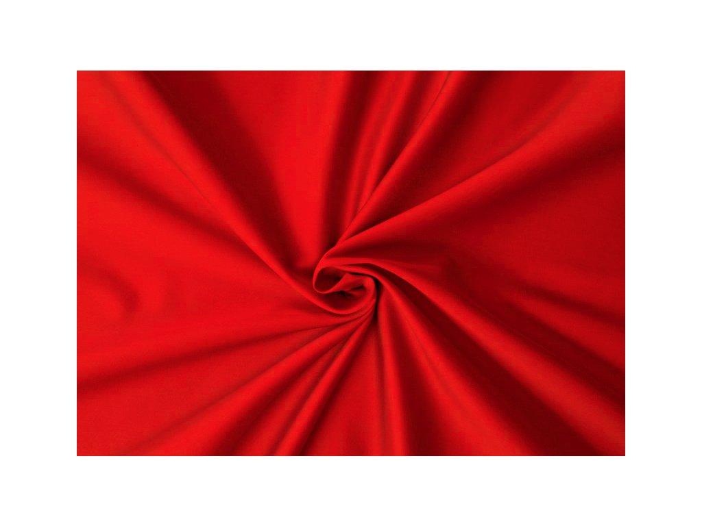 Saténové prostěradlo červené