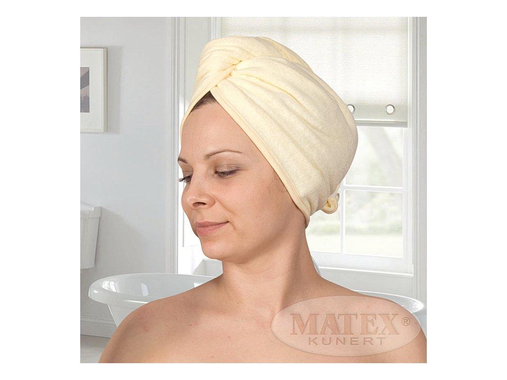 Turban na hlavu froté z bavlny Matex