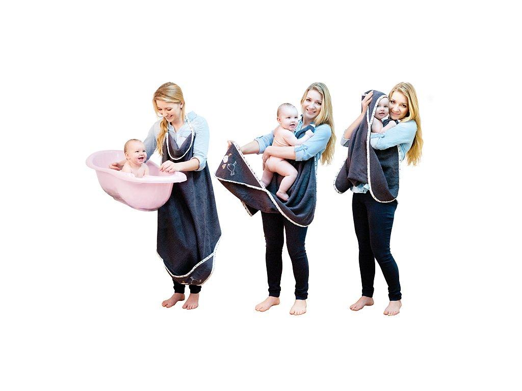 Dětská osuška s kapucí Baby Matex MAXI PLUS