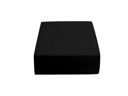 5415 1 prosteradlo bavlnene frote jednoluzko 90 x 200 cm cerne