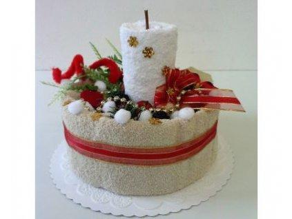 veratex textilni dort svicen bezovo bily 2x rucnik