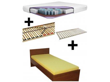 Postel z lamina HUGOŠ + lamelový rošt + matrace