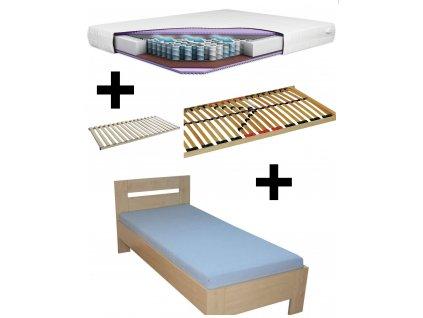 Postel z lamina LINDUŠKA + lamelový rošt + matrace
