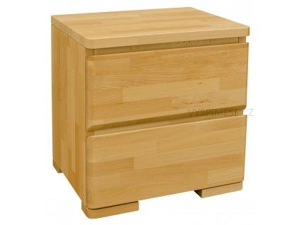 Purtex noční stolek dvou zásuvkový LUX