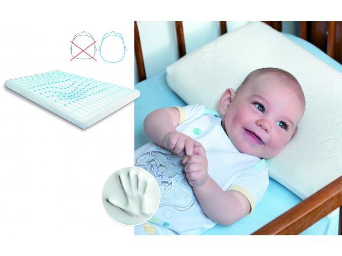 Dětský viskoelastický polštář Baby Matex Memo