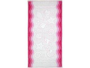 Flora ocean ručník,osuška růžová