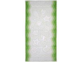 Flora ocean ručník,osuška zelená