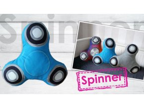 Spinner polštářek modrý