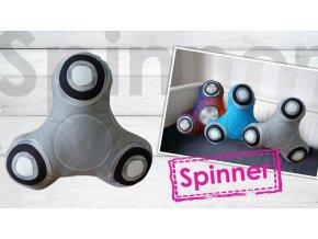 Spinner polštářek šedý