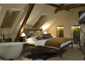 Kovová postel CHAMONIX dub