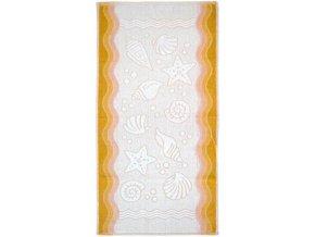 Flora ocean ručník,osuška žlutá