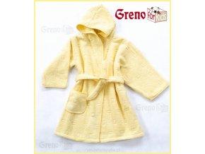 Dětský župan žlutý