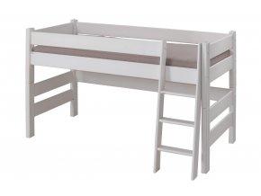 0004368 detska patrova postel sendy nizka buk bila