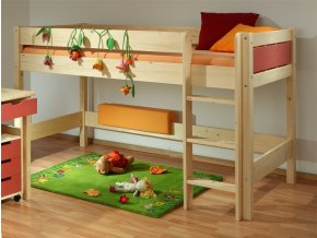 0000497 detska patrova postel bella nizka native
