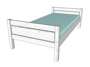 0001261 postel roxy 90 bila
