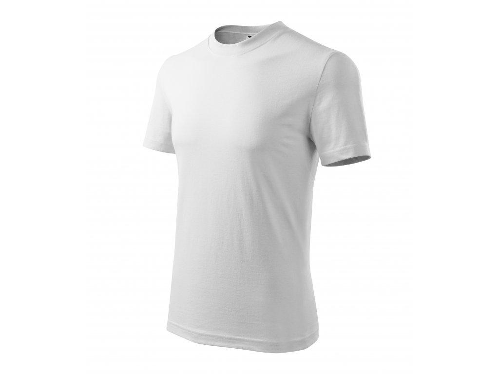 Classic tričko unisex tmavě šedý melír 3XL