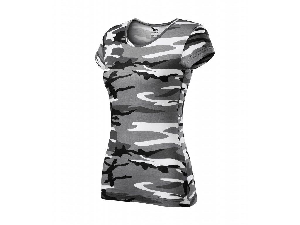 Pure tričko dámské camouflage
