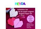 papiry na origami 15 x 15 cm srdce 40 listu