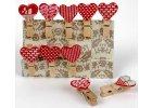 Kolíčky dekorační Shapes 01 - Srdce