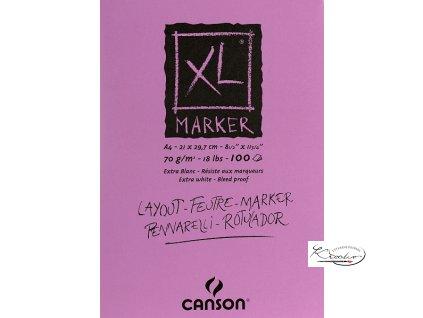 Blok XL MARKER A4 lepená vazba