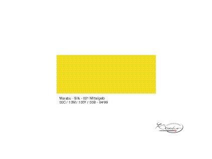 Silk Marabu č. 021 Medium yellow barva na hedvábí 50ml