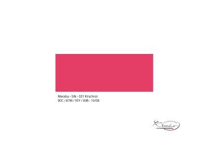 Silk Marabu č. 031 Cherry red barva na hedvábí 50ml